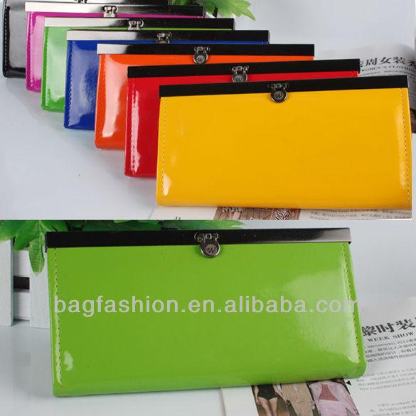 women's PU envelope clutch bag long leather Wallet Ladies designer Purse Handbag