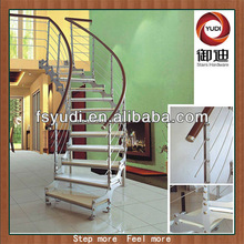 Beautiful Interior Steel Wood Spiral/Curved stairs/staircase/stair Designs