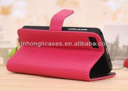 2013 new design Good quatliy Lichee Flip stand leather case cover for Blackberry Z10