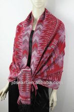 thick winter long scarf smooth&soft Geometric patterns design fur scarf thick winter long scarf
