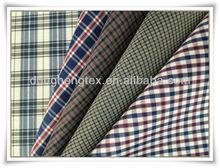 Polyester Taffeta Plaid Fabrics/Yarn-dyed Fabric