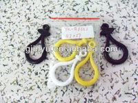 Plastic spring snap hooks