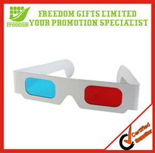 Promotion Top Quality Logo Printed Cheap 3D Paper Glasses