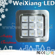 CE&ROHS 4w 9w 16w 25w led lux down light white or sliver alterlative