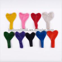 100% natural latex heart shape balloons