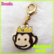 Favorite enamel handsome monkey king charm in gold color #18427