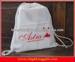 custom organic cotton string shopping bag cotton drawstring backpack gifts bag