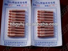 Gas welding torch contact tip ecu