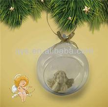Glass globe angel figurine ornaments for decoration