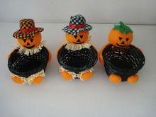 2013 knitting rattan halloween pumpkin basket