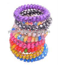 Fashion Printing Phone Cord Ring Hair Band