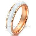 blanco de cerámica anillos de compromiso