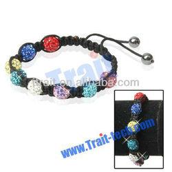 Colorful Vogue Diamond Beaded Shamballa Bracelet/Disco Bracelet/Adjustable Bracelet Ornament Jewelry