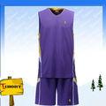 Personalizado bkb-007-4 púrpura de baloncesto uniforme para las mujeres