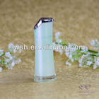 50ml waisted acrylic airless bottle with body in pearlized green