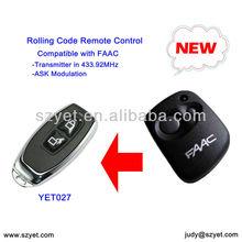 universal de la puerta de control remoto compatible faac yet027