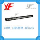 240W 40'' single row off road LED light bar 10W CREE for 4X4, SUV, UTV
