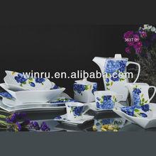 Beautiful blue and white porcelain dinnerware set
