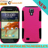 Newest mesh and silicone combo case For GALAXY S IV/I9500