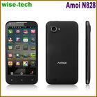 4.5 wifi cell phones for skype dual camera Aimo N828 dual sim 1GB/4GB mtk6589 quad core Capacitive Screen GPS /grant