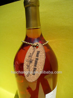 Logo wine cork tags
