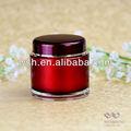 200ml ronde pot de crème acrylique avec bouchon et à base de vin rouge