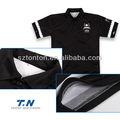 2013 100% أحدث البوليستر قصيرة الأكمام عادي أسود الياقة بولو للرجال لكرة القدم ارتداء