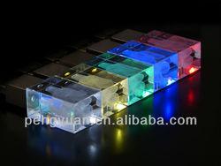 3D Crystal LED Drive , 3D laser Engraving USB Drive, Glass Laser USB Flash (PY-U-558)
