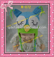 2013 handmade crochet baby boys animal owl hats with ears fitted knit free patterns infant warn beanies for sale