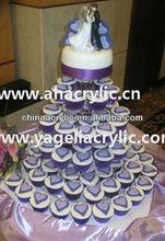 Round Plate Acrylic Cupcake Display Stand/Acrylic Cake Pop Stand