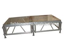 Excellent protable aluminum plexiglass performance moving stage