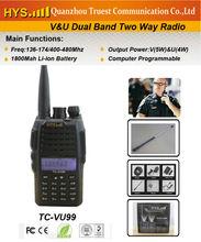1800mah li-ion! security guard equipment two way radioTC-VU99