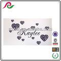 Nome personalizzato& 12 zebra pattern cuori vinile adesivo da parete adesivi decorazione
