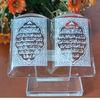 crystal muslim home decoration quran ,mini crystal plaque frame quran