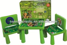 2013 China Factory price high quality plastic children table and chair Furniture high end long back office chair