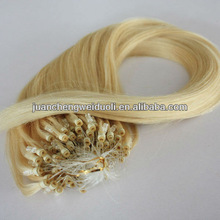 Discount!!!!Popular 100% remy hair micro link hair extension wholesale color 613 1g/strand 22inch 100strands/pack