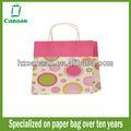 2015 nuevo diseño de color rosa bolsa de papel kraft para el regalo