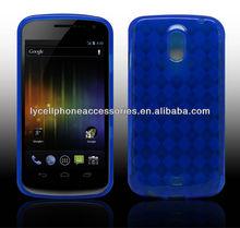 For Samsung I9250 Galaxy Nexus Blue Checker TPU Rubber Skin Case