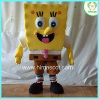 HI EN71 Cute SpongeBob mascot costume, SpongeBob cartoon mascot