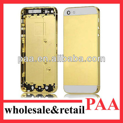 gold plated middle plate/housing/cover for iphone 5 with best price