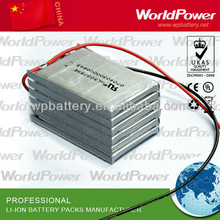 polymer 12v lithium battery pack -widely used for industrial instument application - emergency equipment, lighting system