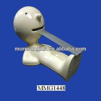 Ceramic useful man decorative tape dispenser