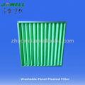 premium de poliéster de fibra sintética lavable panel del filtro de aire