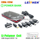 2013 new design tablet/mobile power bank 5000ma