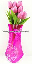 Plastic Cube Flower Vase