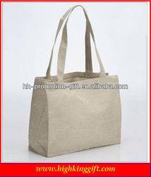 plain white organic cotton fabric shopping tote bags wholesale