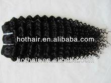 "Hot sale! Natural colour 1B# 14""16""18""20"" deep wave 100% virgin brazilian human hair weaving hair weft"