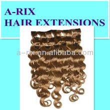 nobleness 25mm curl clip in remy hair extensions