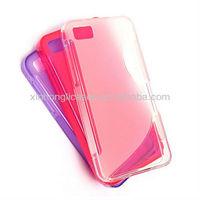 New design hot selling soft s-line tpu case for blackberry z10