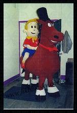 Christmas horse mascot costume for kid